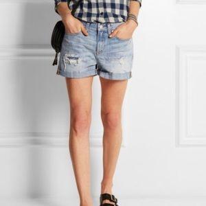 "Madewell Distressed Denim Shorts Size 25 10"" Rise"